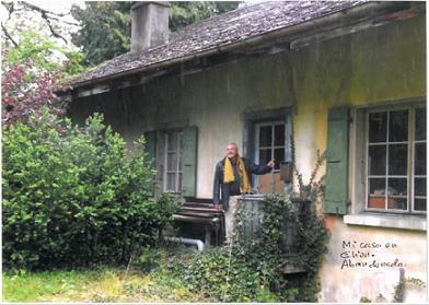 Mi casa en Glion, abandonada.